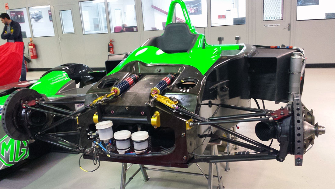 MG Lola EX257 #003 being prepared at RML